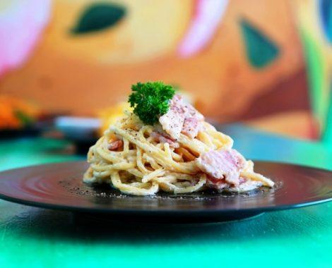 Pasta Spaghetti Carbonara Seminyak